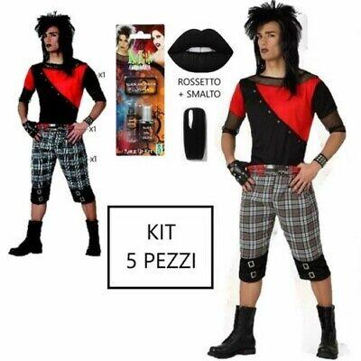 Karnevalskostüme Punk Emo Herren Gotik Cosplay Halloween Jersey + KIT - Kostüm Halloween Emo