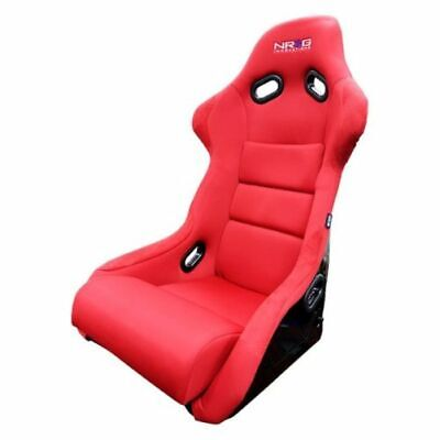 - NRG FRP-300RD Fiber Glass Racing Bucket Seat Large Size Red Finish