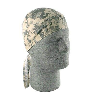 Digital ACU Army Olive Drab Khaki Tan Camouflage Camo Doo Rag Skull Cap - Olive Skull Camo