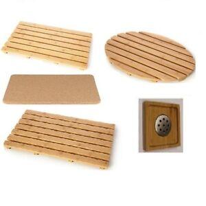 Natural wood wooden duck board rectangular bamboo oval shower mat bath brand - Sortie de douche bois ...