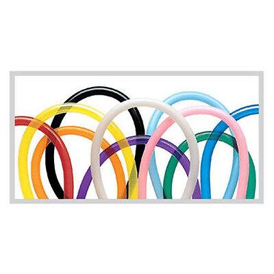 Qualatex Latex 160Q Traditional Assortment 100 Count Twisting Modeling Balloons - Balloon Twisting
