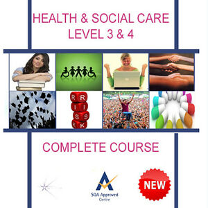 HSC QCF NVQ SVQ HEALTH SOCIAL CARE (ADULT) LEVEL 2 3 4 5 (x20 UNITS) FULL COURSE