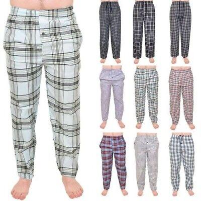 Baumwolle Gewebte Hose (Herren Pyjama Freizeithose Gewebt Kariert Baumwolle Hose Nachtwäsche S-2XL)