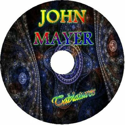 JOHN MAYER ACOUSTIC GUITAR TAB CD TABLATURE GREATEST HITS BEST OF POP (John Mayer Best Hits)