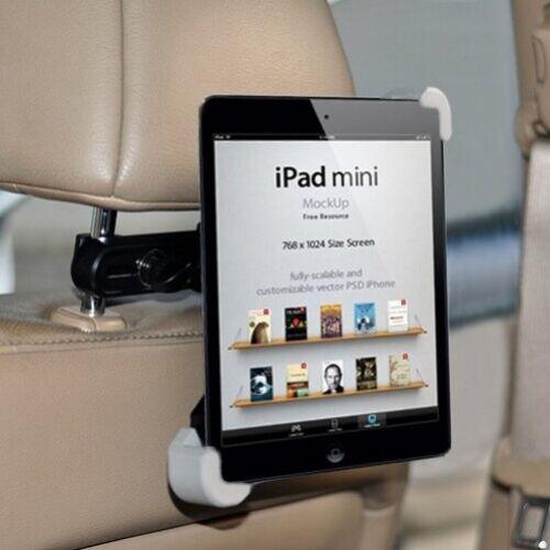 Premium Car Headrest Mount Tablet Holder Rotating Cradle Bac