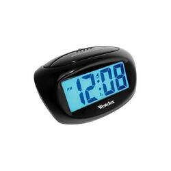 Westclox 1 Digital Snooze Ascending Alarm Clock (Black) 70043X