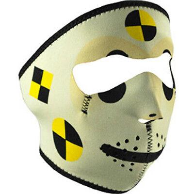 Crash Test Dummy Neoprene Full Face Mask Biker Costume Gift Reverse Black ATV - Test Dummy Costume