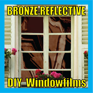 BRONZE-SOLAR-REFLECTIVE-ONE-WAY-MIRROR-WINDOW-FILM-TINT