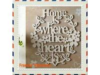 Home Is Where The Heart Is Wall Plaque