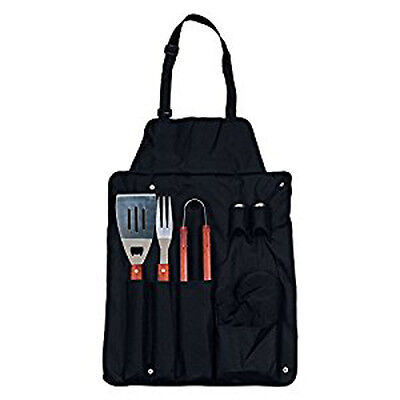 BBQ Apron and Grilling Utensil Set 7 Pieces FineLife