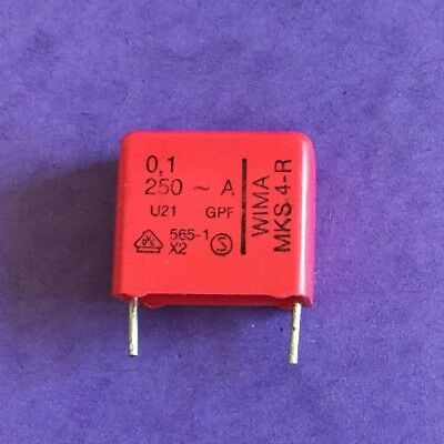 Us Stock 10 Pcs Wima Polyester Capacitor 0.1uf 100nf 250v Rs Components Germany