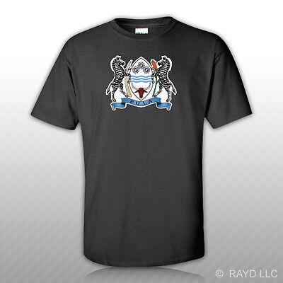 Batswana Coat of Arms T-Shirt Tee Shirt Free Sticker Botswana flag BWA BW