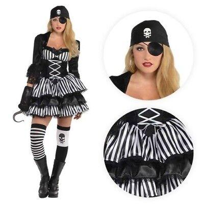Damen Mittelalter Karibik Piratenbraut Steampunk Halloween Kostüm