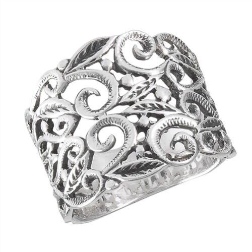 Sterling Silver Victorian Filigree Ring (SZ 7-10)