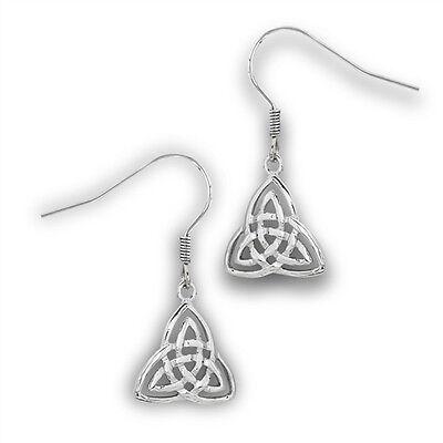 Stainless steel Celtic Trinity Knot earrings Triquerta