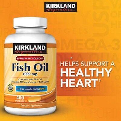 Kirkland Signature Omega-3 Fish Oil 1000 mg 400 ct softgels (EXP 02/2018)