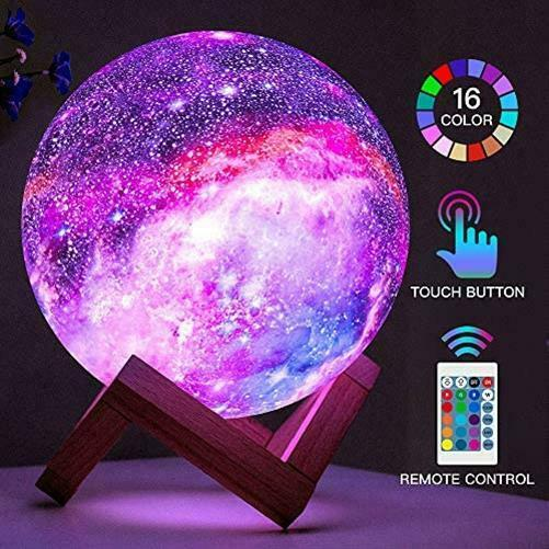 BRIGHTWORLD Moon Lamp Kids Night Light Galaxy Lamp 5 9 inch