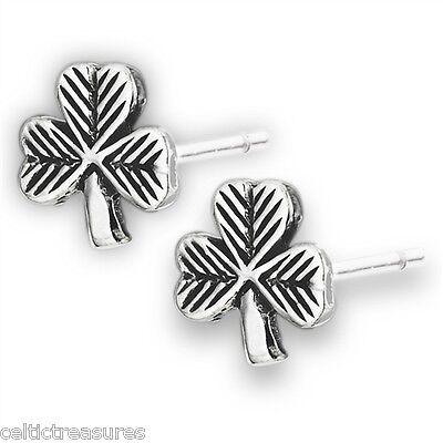 Sterling Silver Irish Shamrock Post earrings