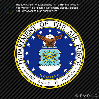 - Department of the Air Force Seal Sticker Decal Self Adhesive Vinyl usaf united