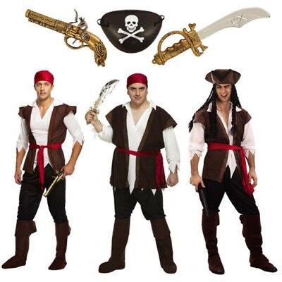 Pirate Karibik Man Halloween Kostüm Erwachsene Herren Verkleidung Jack Sparrow M (Halloween-kostüm Jack Sparrow)