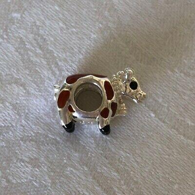 Authentic Chamilia BROWN BETTY COW Sterling Silver 925 Charm Farm Animals Chamilia Jewelry Animal Beads