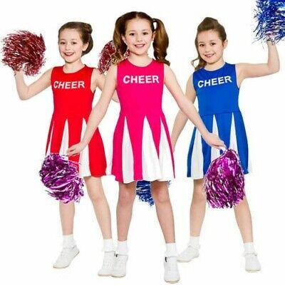 Mädchen Cheerleader Kostüm Kinder Kinder Kostüm Kinder Add auf Pom Poms