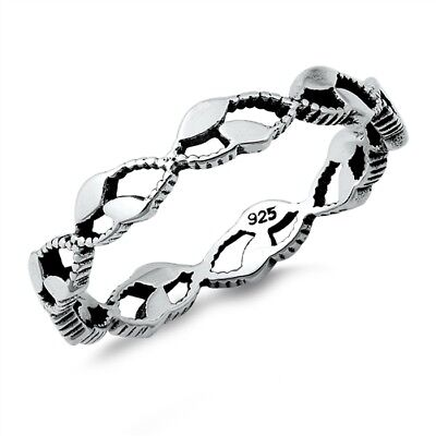.925 Sterling Silver Abstract Weave Design Fashion Ring Size 5-10 NEW