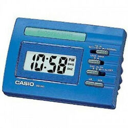 Casio DQ541-2E Blue LED Light Digital Travel Alarm Clock with Snooze NEW