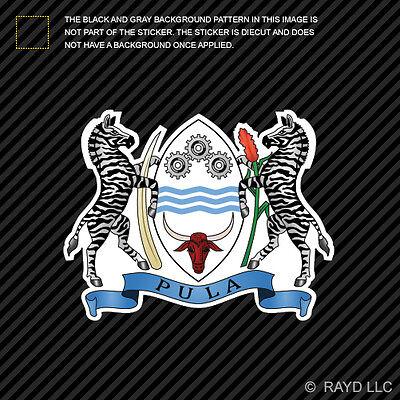 Batswana Coat of Arms Sticker Decal Self Adhesive Vinyl Botswana flag BWA BW