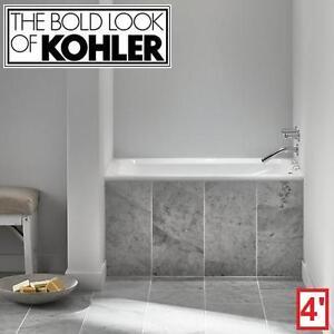 "NEW KOHLER GREEK 4' ACRYLIC BATHTUB - 128628270 - WHITE 48"" x 32"" BATHROOM BATHROOMS BATH TUB TUBS BATHTUBS SOAKING D..."