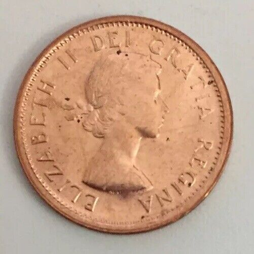 1964  Canada  Canadian Small  Cents  one cent  Penny Coin  BU Free shipping
