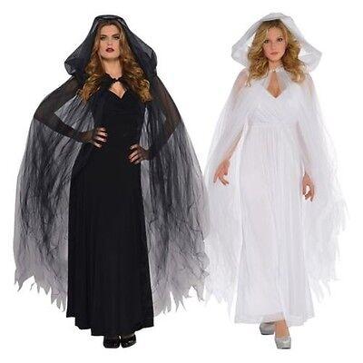 Damen Verführerin Kapuze Cape Halloween Kostüm Zubehör Ghost Engel