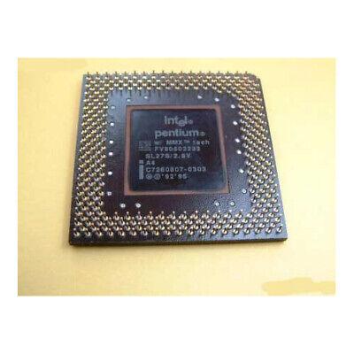 Intel  Pentium 233 MMX   socket 7 CPU SL27S FV80503233 2.8V comprar usado  Enviando para Brazil