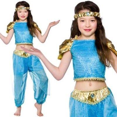 Kinder Arabische Prinzessin Outfit Verkleidung Buchwoche Jasmin Kinder Mädchen (Jasmin Kinder Kostüme)