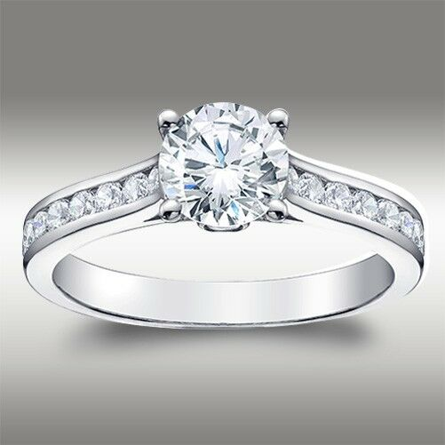 1.49 CT Brilliant Round Cut Engagement Ring Lab Diamond