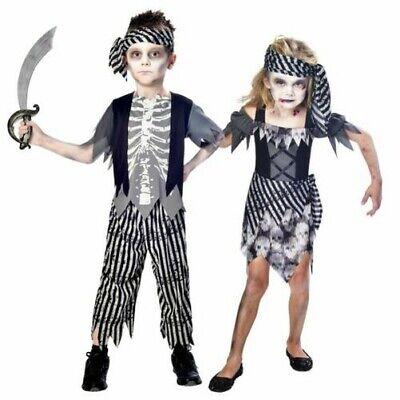 Mädchen Jungen Kinder Kleinkinder Piraten Kostüm Buch Woche Halloween ()