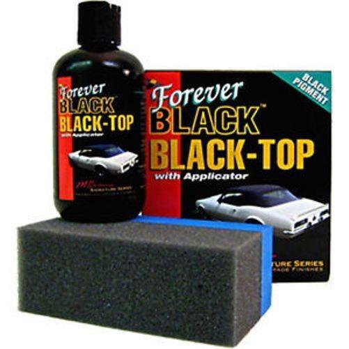FOREVER BLACK Vinyl Soft Top Gel Dye Convertible Bimini