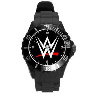 WWE Wrestling Black Round Casual Sport Watch
