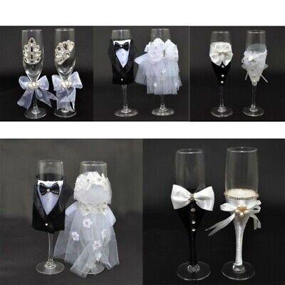 r Mrs Champagner Gläser Flöten Toasten Hochzeits Dekorationen (Hochzeit Toasten Flöten)