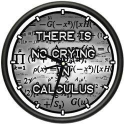 CALCULUS Wall Clock math mathematics teacher numbers formulas no crying gift
