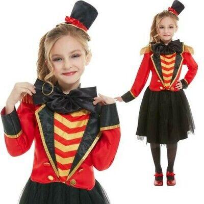 Mädchen Deluxe Greatest Zirkusdirektor Zirkus Show Party Kostüm Kinder