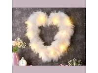 Led Feather Heart Light