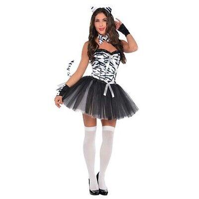 Karneval Schwarz Weiß Damen Sexy Zebra Tier Zoo - Zebra Sexy Kostüme