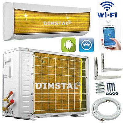 GoldenFin WiFi/WLAN 2,6kW A++ 9000 btu Inverter Klimaanlage Klimagerät Heizung