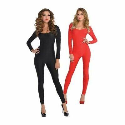 chwarz Rot Kitty Devil Halloween Overall Damen Kostüm Outfit (Kitty Halloween Kostüm)