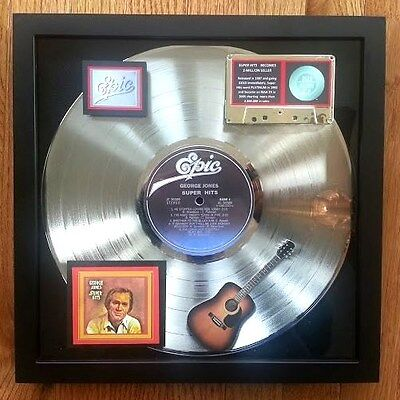 "GEORGE JONES PLATINUM RECORD AWARD  ""SUPER HITS"""