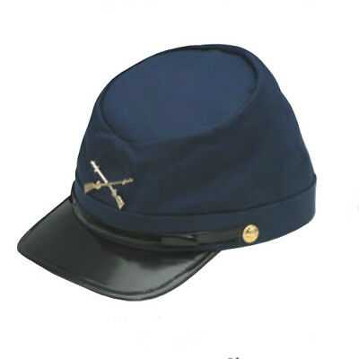 Army Hat Costume (Union Hat Navy Blue Federal Army Cotton Cap USA Soldier Costume Kepi Civil)