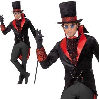 Erwachsene Herren Dracula Kostüm Anzahl Vampir Gothic Halloween Kostüm M, L ()
