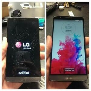 LG G2, G3, G4, NEXUS 4, 5, 6, 5X, 6P CRACKED SCREEN, LCD, BATTERY, CHARGING PORT REPAIR ON SPOT
