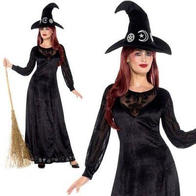Deluxe Hexe Handwerk Kostüm Halloween Hexen Kostüm Outfit + Hut (Handwerker Halloween Kostüm)